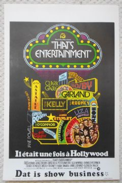 Thats Entertainment, Original Belgian Movie Poster, Sinatra, Kelly, Crosby , '74